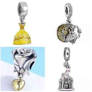 Disney Beauty & The Beast Collection Charm Bundle